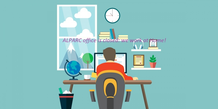 COVID-19 : ALPARC in home office until further notice