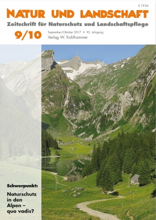 Alparc contributes with two articles to Natur und Landschaft 9/10 2017