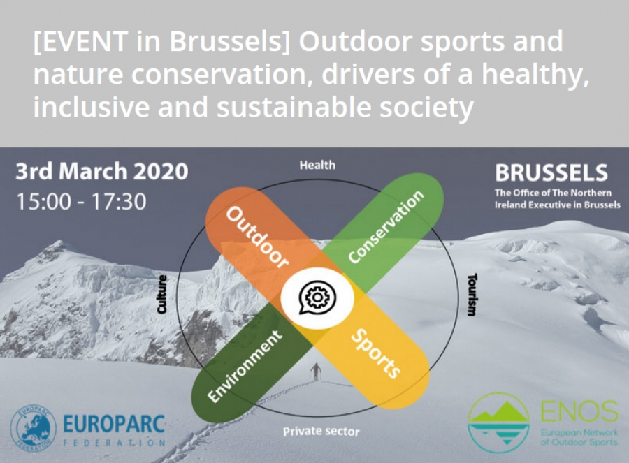 Outdoor sports and nature conservation, drivers of a healthy, inclusive and sustainable society